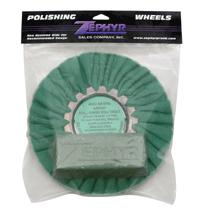 Hall Green Airway Buffing Wheel with Green Rouge Bar