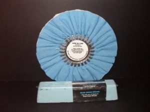 """Signature Series 10"""" Show Shine Buffing Wheel with Blue Moon Rouge Bar"""