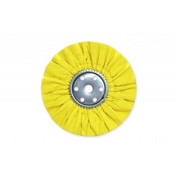 "14"" x 5"" Yellow Mill Treat Industrial Airway Buffing Wheel"