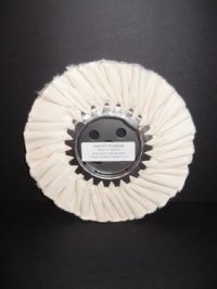 "8"" Medium/Light Untreated White Buffing Wheel"