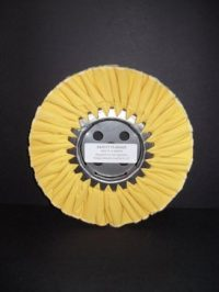 "8"" Firm Treated Yellow Buffing Wheel"