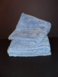 "Long Pile Edgeless Blue Microfiber Towel (450 GSM, 16"" X 16"", 3 Pack)"