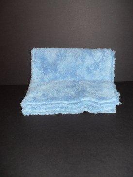 "Long Pile Edgeless Blue Microfiber Towel (450 GSM, 16"" X 16"")"